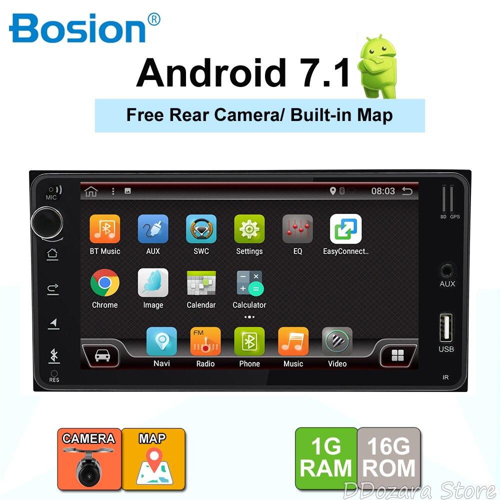 2 din Android 7.1 autoradio gps navigation voiture lecteur dvd pour Toyota Hilux VIOS vieux Camry Prado RAV4 Prado voiture autoradio carte rds