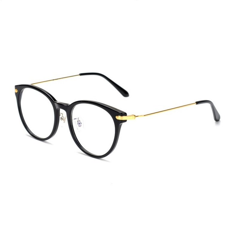 Men's Eyewear Frames Adaptable Unisex Fashion Newest Alloy Full Rim Round Frame Eyewear Retro Gold Silver Optical Prescription Myopia Eyeglasses Oculos Frame Men's Glasses