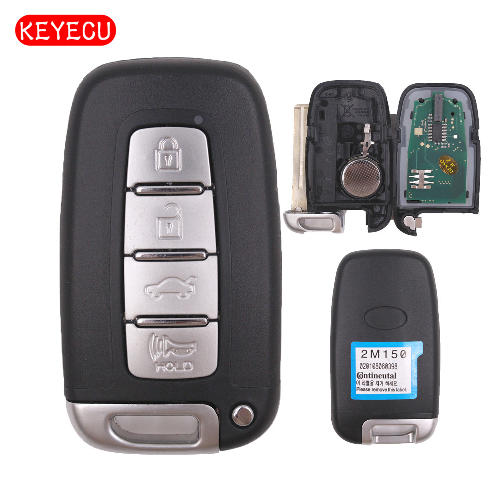 Keyecu Smart Remote key Keyless Entry Fob 4 Button 433MHz With ID46 Chip for Hyundai I30 IX35Keyecu Smart Remote key Keyless Entry Fob 4 Button 433MHz With ID46 Chip for Hyundai I30 IX35