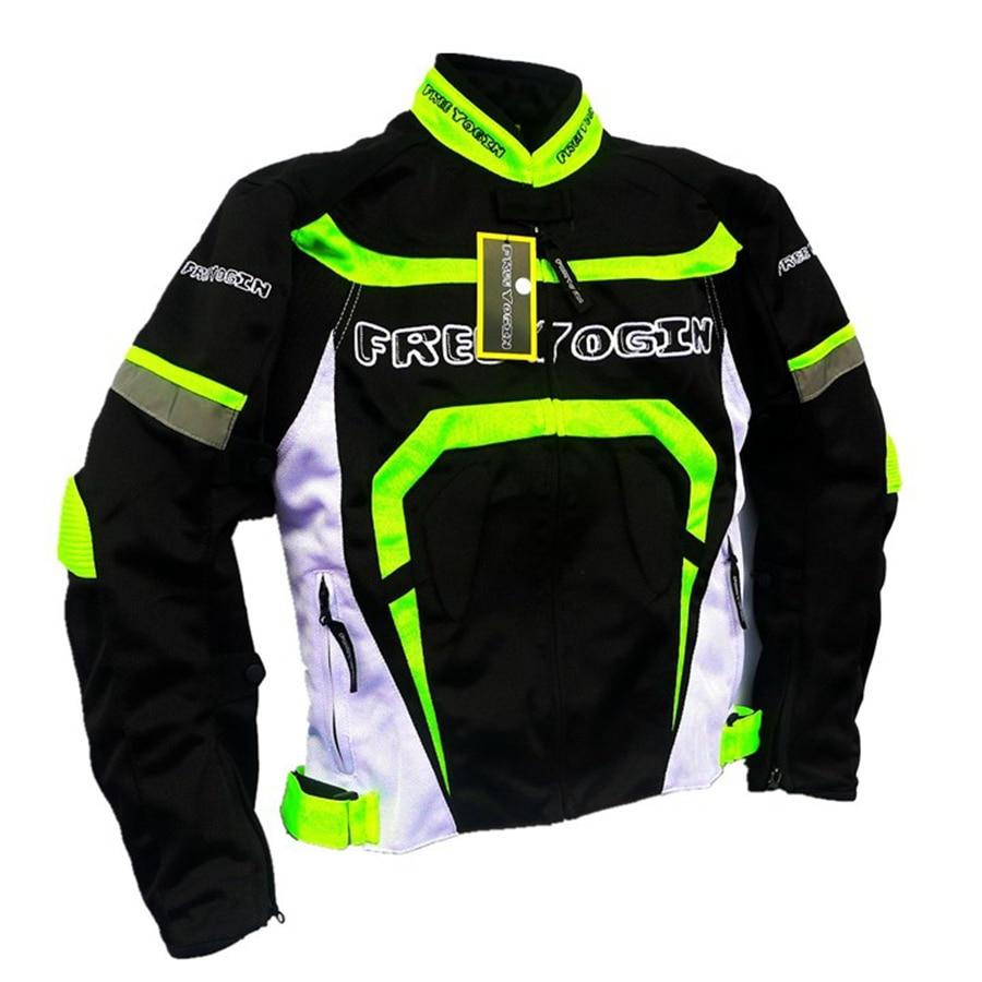 Frete grátis 1 pcs Equipamentos Desportivos Ao Ar Livre Homens Ventilação De Corrida De Motociclismo Jaqueta com 5 pcs almofadas