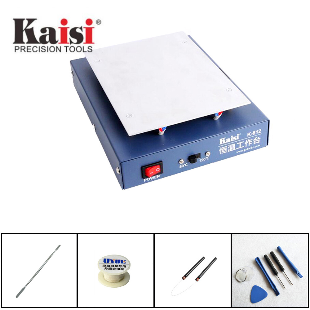 Kaisi 7 Thermostat heating Machine mobile phone repair LCD Screen Open separator desoldering station for iPhong