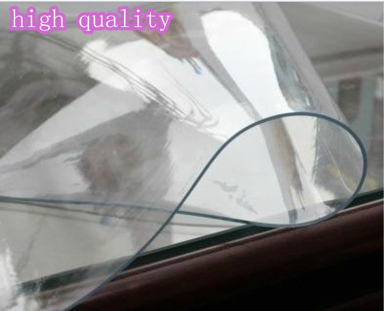 Size 70x120cm super clear plastic table overlays cheap for 120 round plastic table covers