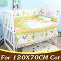 5 PCS Conjunto Bebê Da Cama de Algodão Conjunto de Bebê Recém-nascido Cirb Jogo De Cama Para 120X70 cm Bebê Bumper Cama Baby Crib Bumper CP02