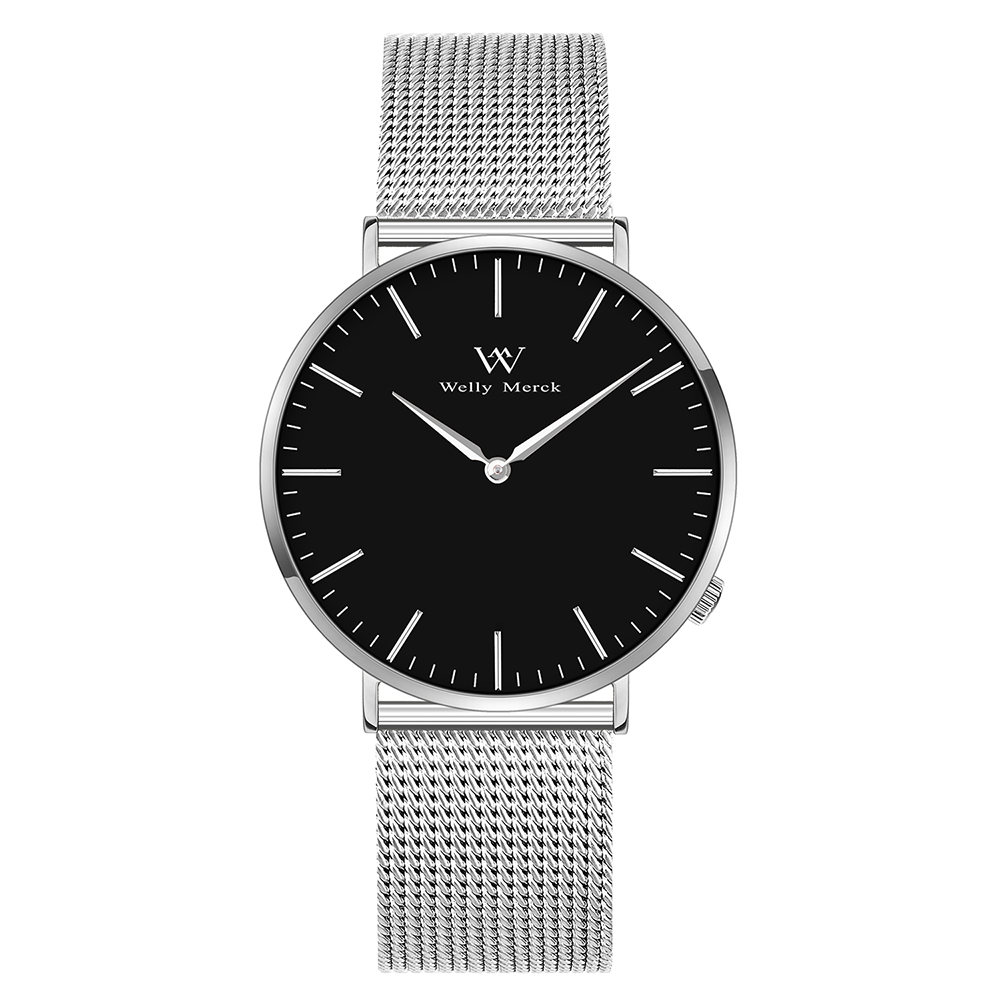 Welly Merck Silver Stainless Steel Wristwatch For Women цена и фото