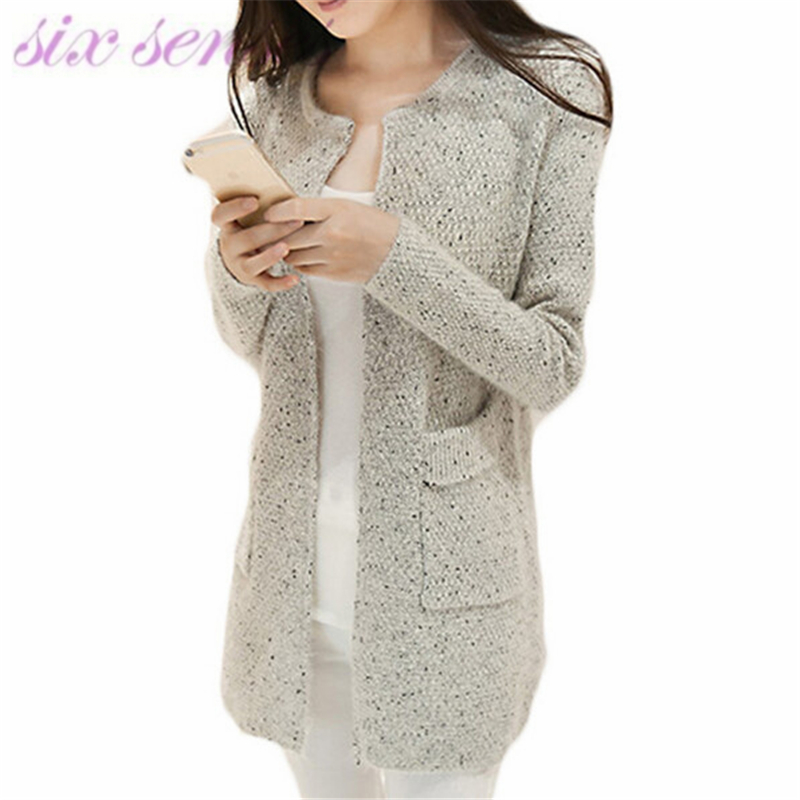 autumn winter fashion women cardigans new casual long sleeve knitted coat loose round neck solid open stitch sweaters,WH0062
