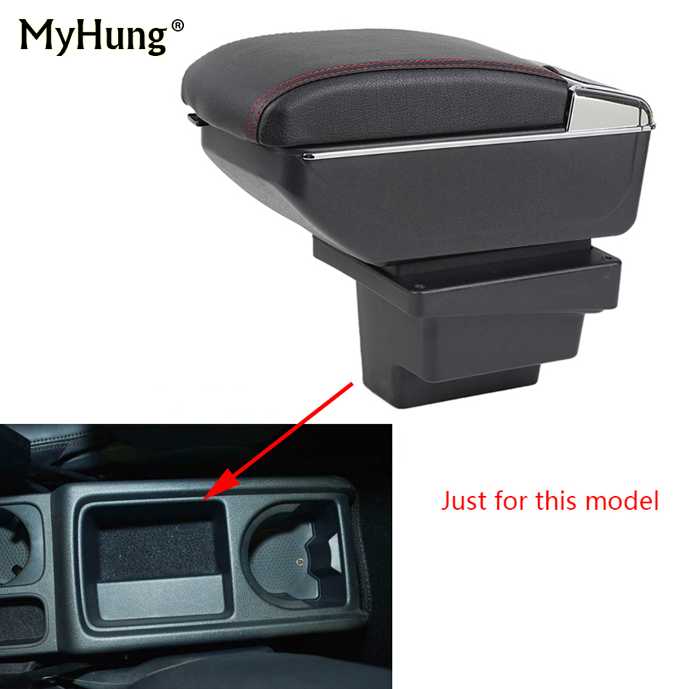 For VW Tiguan 2009-2017 Armrest box Central Console Arm Store content box cup holder ashtray With Rise and Down Function Styling universal leather car armrest central store content storage box with cup holder center console armrests free shipping