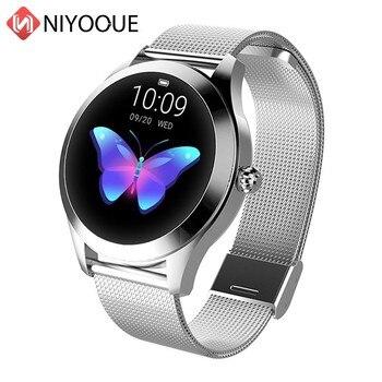 KW10 модные часы Smart Watch Для женщин очаровательный браслет монитор сердечного ритма Sleep Monitor Смарт-часы с мониторингом подключения Ios Android подар...