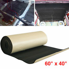 Car Auto Noise Heat Insulation Sound-Proof Dampening Pad Mat 50*80cm Accessories цена