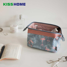 Fashion Flamingos Patterned Portable Cosmetic Bag Women Necessaire Bag Travel Waterproof Makeup Bag Toiletry Kits Small Packet недорого