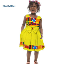 d8a98a9c87f Lovely Girls Bow-tie A-line Dresses Bazin Riche African Print Ankara Dresses  for