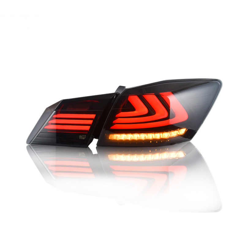 Car Styling LED Tail Lamp for Honda Accord 9 Tail Lights 2014-2016 for Accord Rear Light DRL+Turn Signal+Brake+Reverse LED light