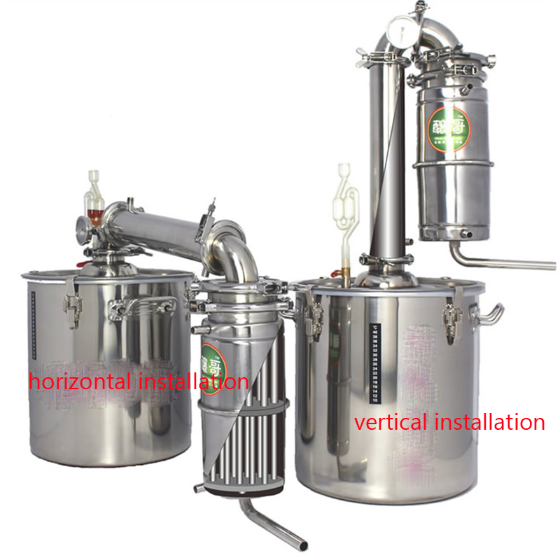 Household 20L Stainless Steel Wine Brewing Machine Alcohol Vodka Liquor Distiller Pot/ Boilers Equipment