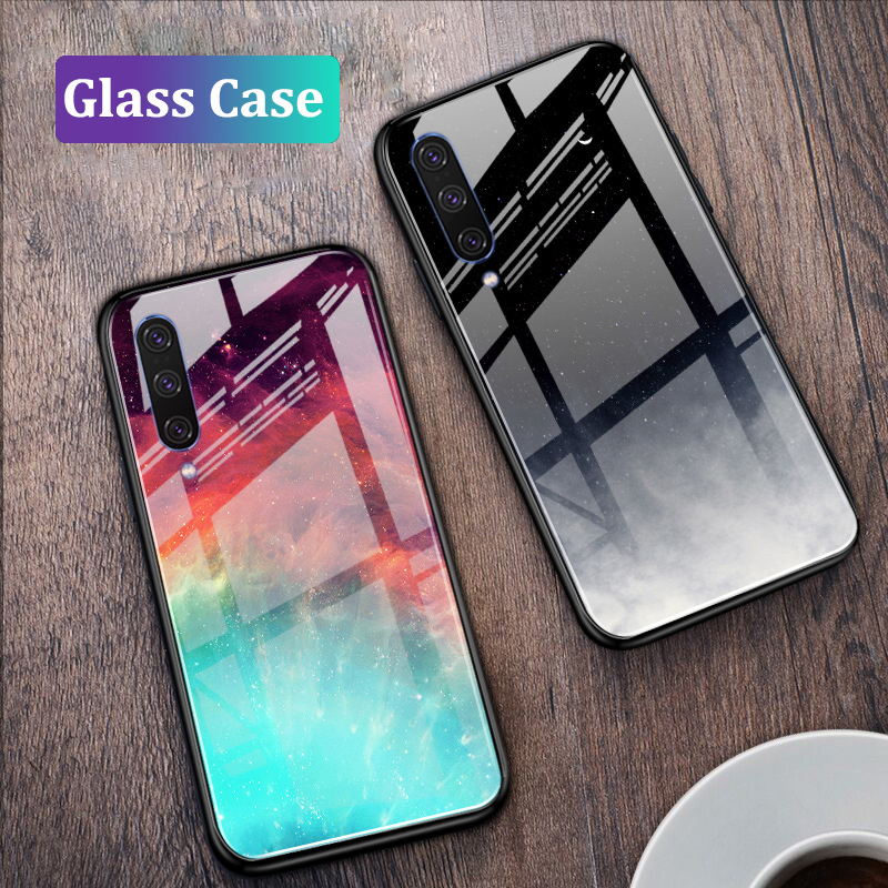 GFAITH <font><b>Case</b></font> For <font><b>Samsung</b></font> <font><b>A70</b></font> <font><b>Tempered</b></font> <font><b>Glass</b></font> Cover Starry Sky Design Full Protection Funda For Galaxy A50 A30 A20 A10 <font><b>Cases</b></font> image