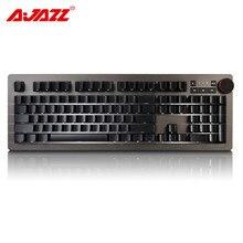 Ajazz AK60 Mechanical Gming Keyboard Blue Switch of Cherry 104 keys RGB Backlight Keyboard ARM 32 Bit Processor Color Adjustable