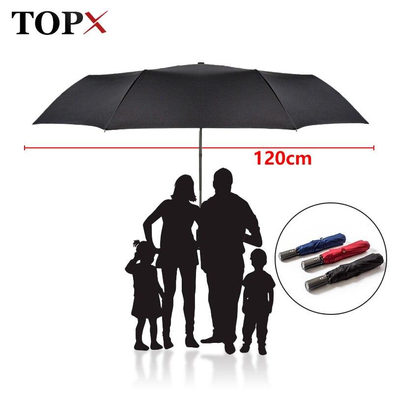 Высококачественный брендовый большой складной зонт для мужчин и женщин, двойной зонт для гольфа, деловой подарок, автоматические ветрозащитные Зонты