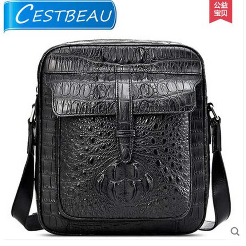 Cestbeau crocodile leather male bag single shoulder men bag male bag leisure business package Men alligator bag tihinco new authentic crocodile handbag single shoulder bag leather male fashion business and leisure bag document package