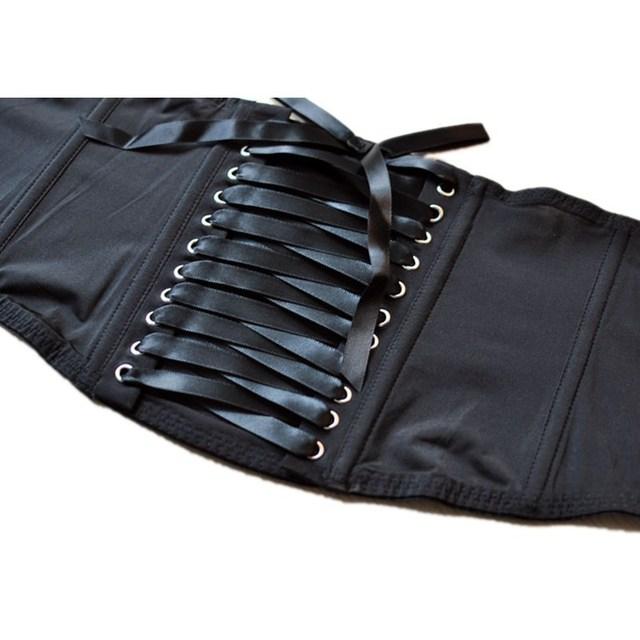 High Waist Bondage Garters Belts Black
