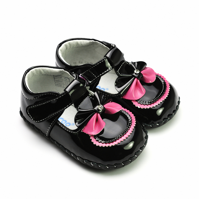 Genuine leather brief elegant bow baby shoes freycoo 1073