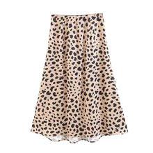 Женская винтажная юбка с высокой талией леопардовым принтом