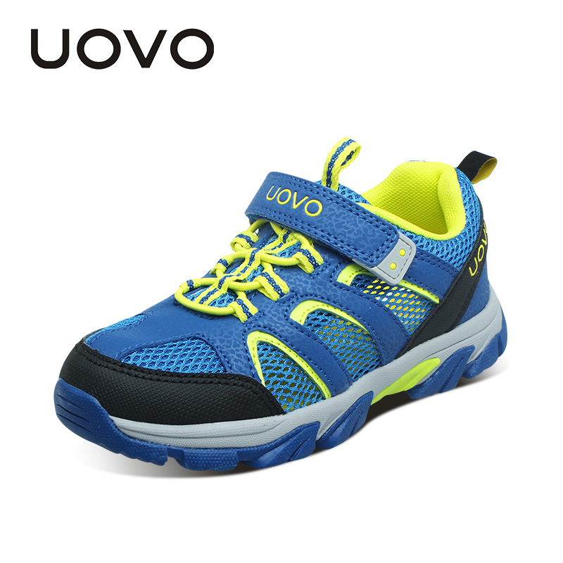 UOVO 2017 New Kids Shoes Girls Shoes Boys Shoes Outdoor Kids Sneakers Nonslip Infantil Tenis Children Trainers Chaussure Enfant uovo fly knit kids shoes spring shoes for boys girls breathable children sneakers fashion sport trainers girls shoes size 27 37
