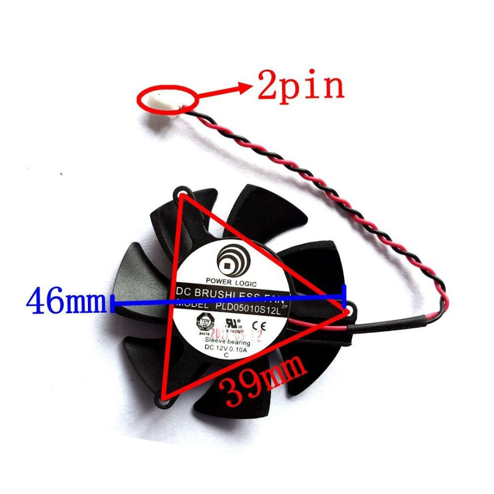 Diameter 45mm Computer Vedio Card VGA Cooler Fan For DATALAND R7 250 1GD5 R7-240 Graphics card cooling