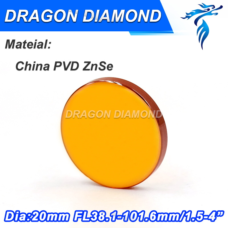 CN PVD ZnSe High precision Diameter 18mm 19.05mm 20mm Focus Length 1.5-5 inch CO2 laser lens with 99.99% origional ZnSe for sale znse focus lens diameter 18mm focus distance 38 1mm 1 5inch