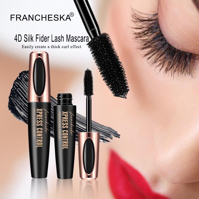 Rimel Eyelash Mascara 4d Silk Fiber Long Lasting White Mascara Eye Lashes Makeup Cosmetic Rimel Waterproof Mascara De Cilios