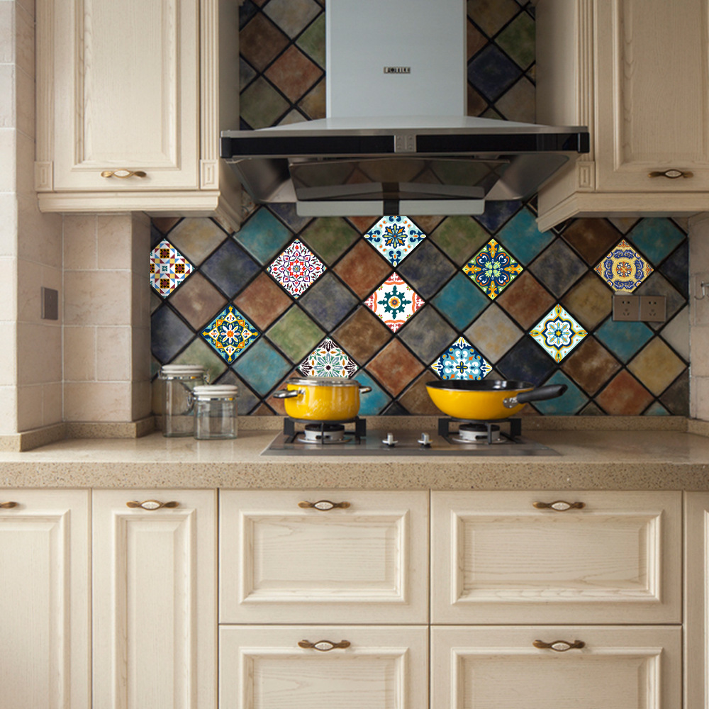 Funlife Mediterranean Retro Tile Sticker,Waterproof Self adhesive ...