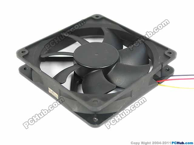Emacro Y.S TECH YW12025012BL Server Square Cooling Fan DC 12V 0.18A 120x120x25mm 3-wire emacro for psc p1124020mb1a server square fan dc 12v 100ma 1 2w 40x40x20mm 3 wire