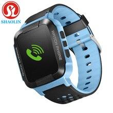 Shaolin inteligente relojes para niños niños reloj gps para apple teléfono android reloj smartwatch inteligente bebé niños inteligente electrónica