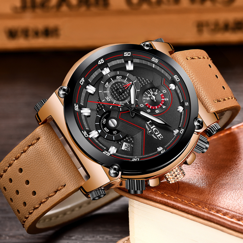 Men's Large Dial Watch Military Sports Outdoor Waterproof 1