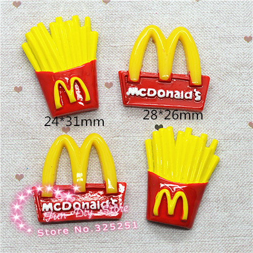 Mcdonald Wholesale Home: Wholesale 50pcs Cartoon Mcdonald's Logo Chips Flatback