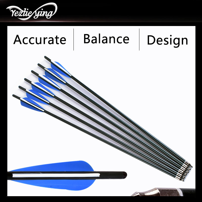 Image 3 - Crossbow Hunting 22Inch Crossbow Bolt Aluminum Arrow for Crossbow, Blue and White Feathers, Replaceable Arrows Bow For Shooting-in Bow & Arrow from Sports & Entertainment