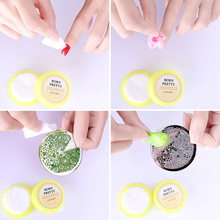 BORN PRETTY 32pcs Fruit Flavor Nail Polish Stamping Plates Remover Pads Moist Wet Paper Manicure Nail Art Tool Clean Wipes Tools