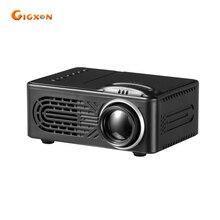 Gigxon-G814 batería incorporada super mini proyector 25-80 pulgadas 30 lúmenes 1000:1 ratio pocket proyector LED 25-80 pulgadas