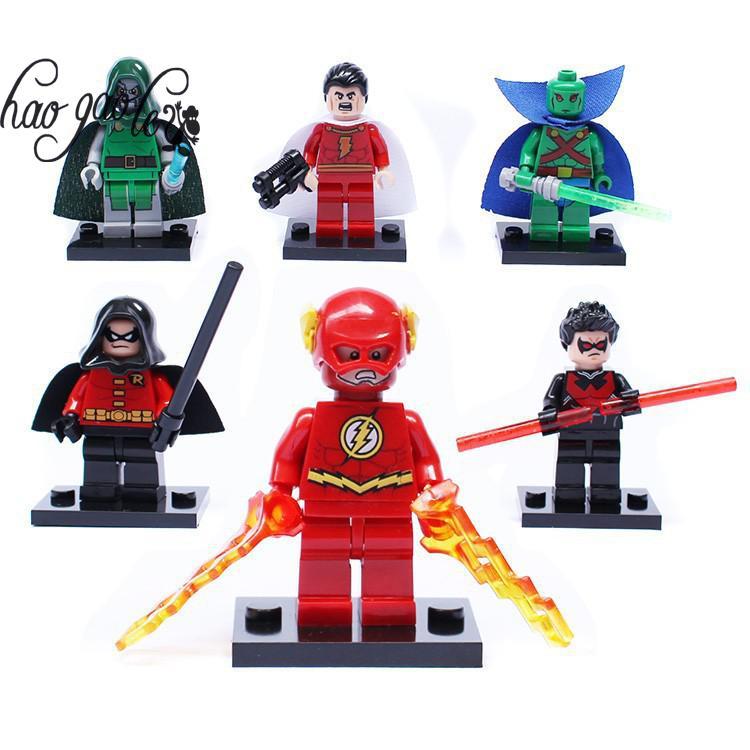 Hao gao le bricks building blocks super heroes avengers night wing martian manhunter flash - Flash le super heros ...