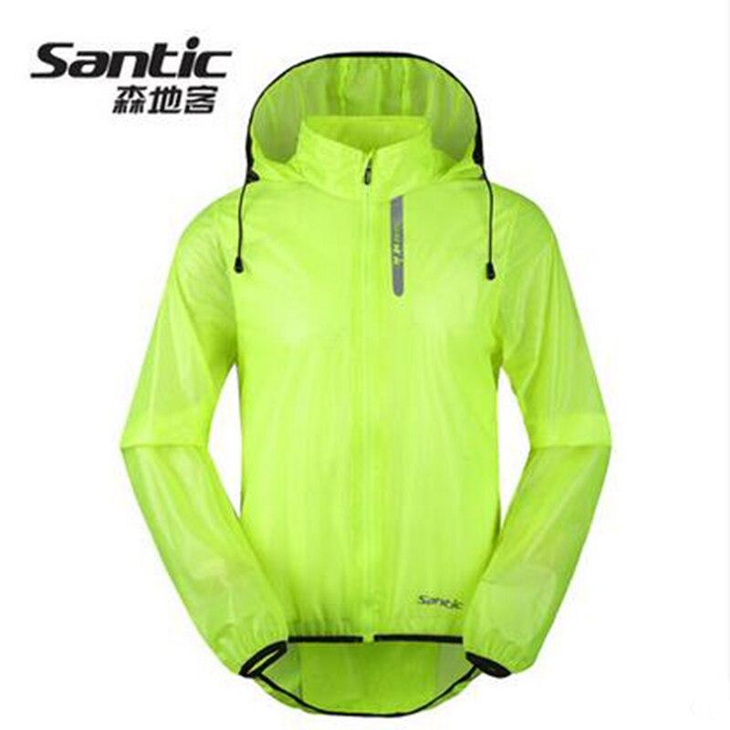 все цены на Santic Green Cycling Raincoat WindProof Jacket Men Waterproof Outdoor MTB Downhill Cycling Jersey Anti-pilling Cycling SK0026 онлайн