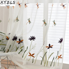 XYZLS Brand New Dragonfly Floral Embroidered Sheer Tulle Curtains For  Balcony Bedroom Living Room Window Screens Awesome Ideas
