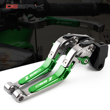 DESRIK Adjustable Folding Extendable Motorcycle Brake Clutch Levers For Kawasaki Z900 Z650 2017 2018 2019 2020 LOGO Z900 Z650