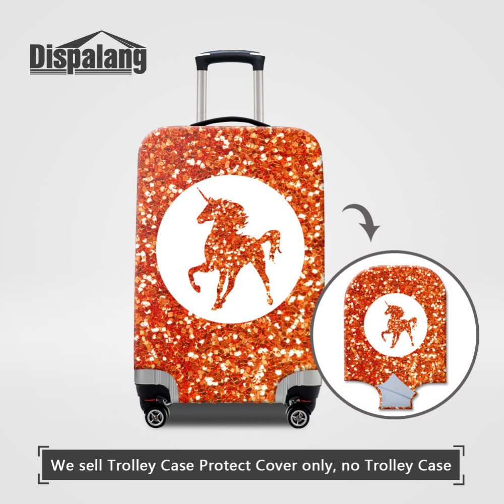 Dispalang Unicorn Thick Luggages Protective Cover For 18-30 Inch Trolley Cases Cartoon Horse Elastic Suitcases Dust Covers