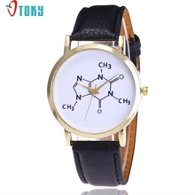 OTOKY Willby Fashion Chemical Formula Pattern PU Leather Watch For Women Drop Shipping 170223