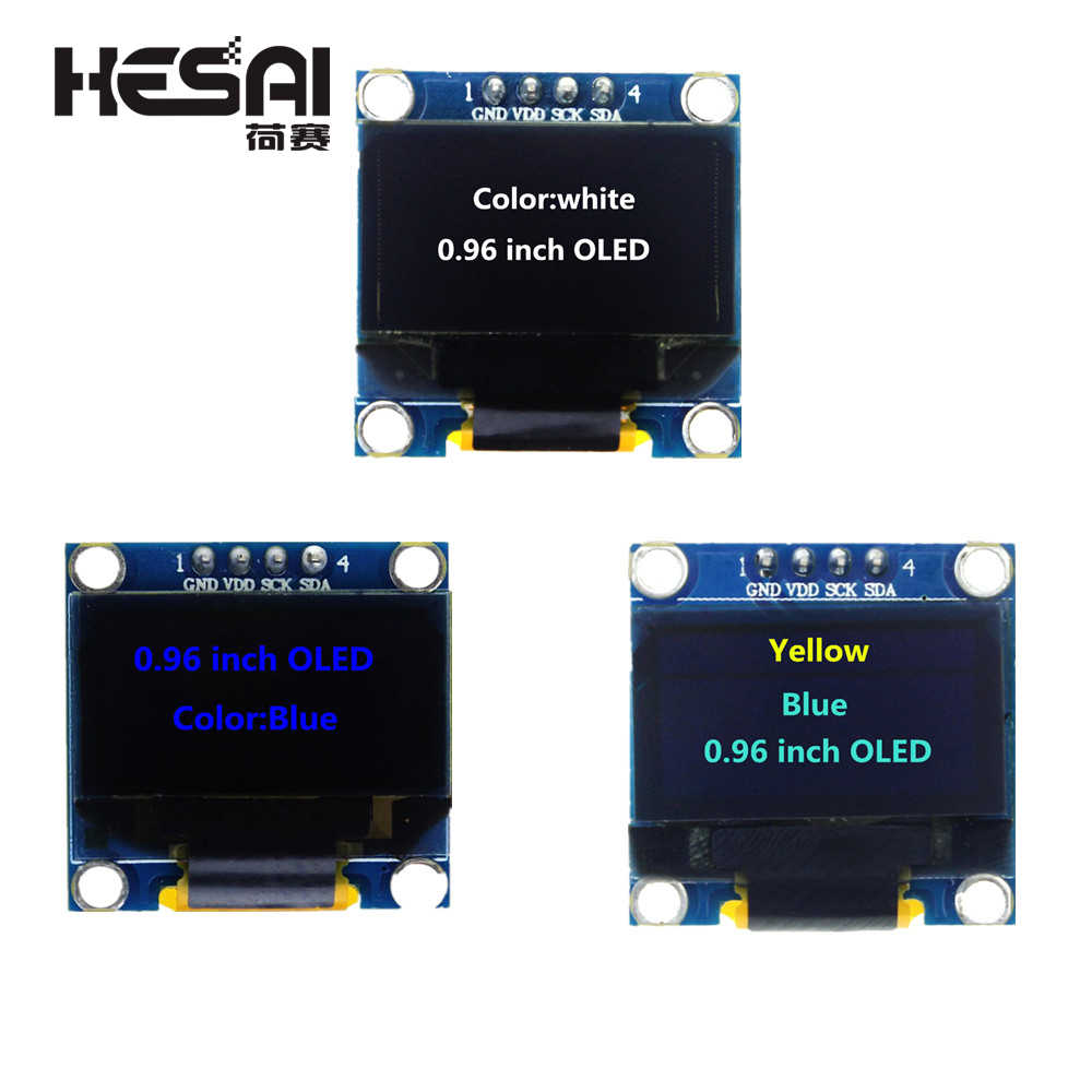 0.96 inch 128X64 Blue/White/Yellow Blue OLED Display Module IIC Communicate for arduino Diy Kit