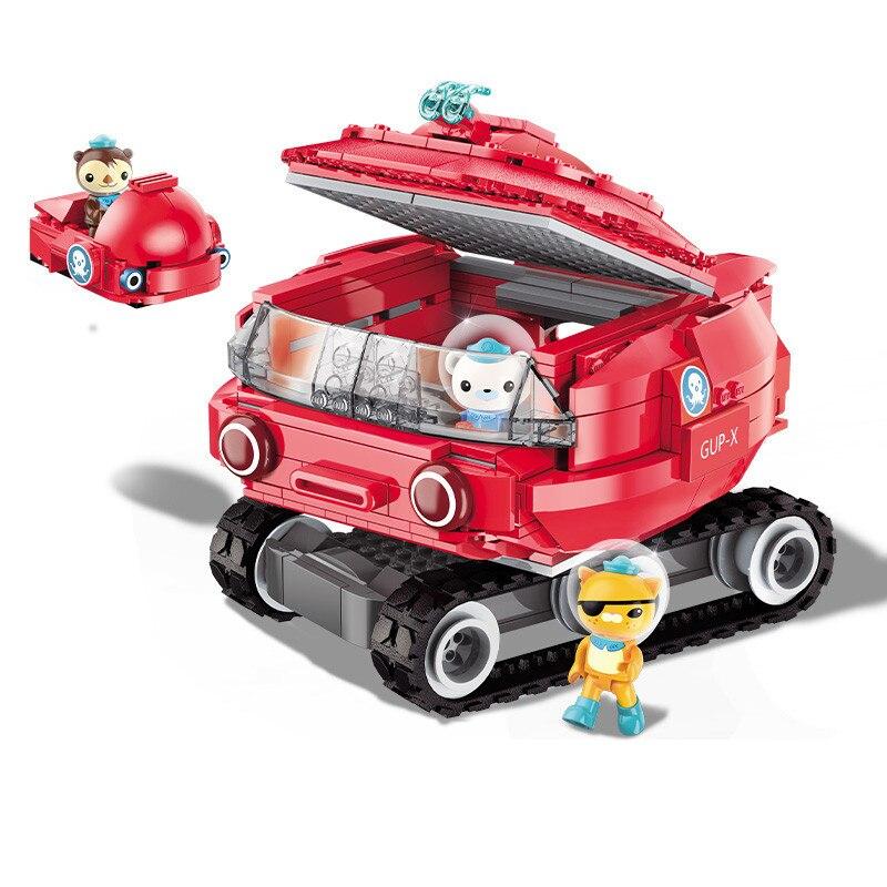 ENLIGHTEN Ideas Octopus Horseshoe crab Octonauts Cartoon Building Blocks Sets Brick Model Kids Classic Compatible Legoings duplo