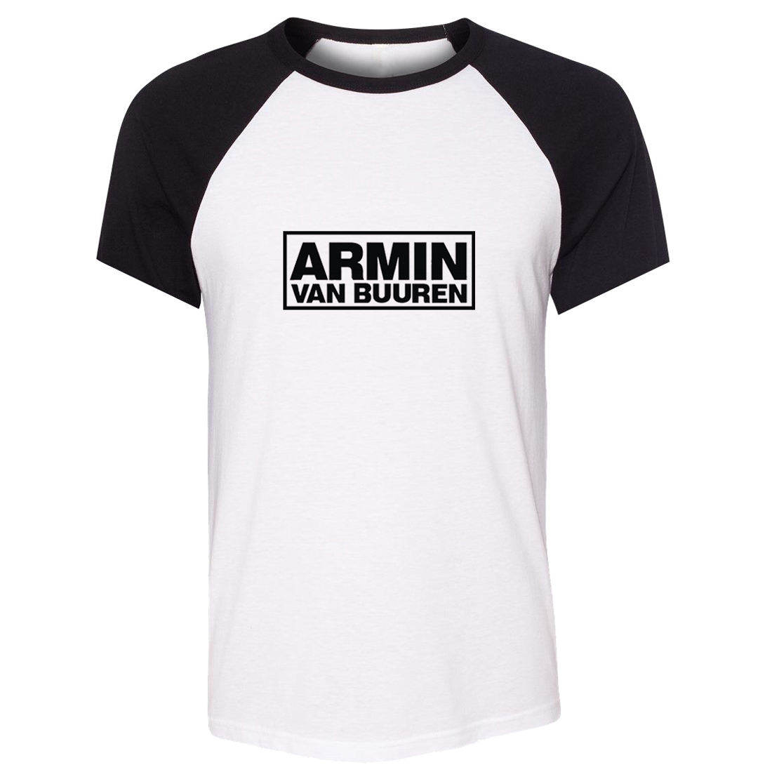 iDzn Unisex Summer Fashion T-shirt Armin Van Buuren DJ Fans Art Pattern Design Raglan Short Sleeve Men T shirt Casual Tee Tops