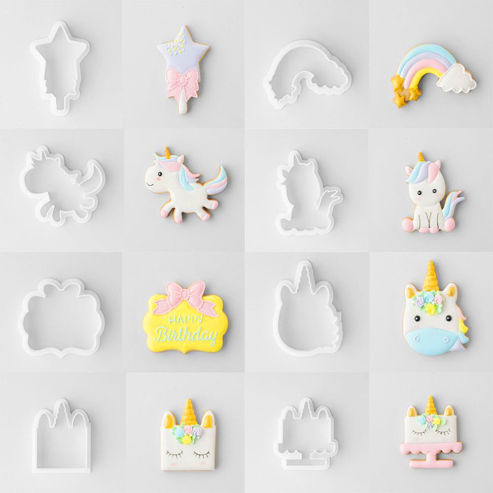 8-6pcs-set-Unicorn-Cookie-Biscuit-Embossing-Mould-Sugarcraft-Cake-Cutters-Mold-Decor-DIY-Crafts-Baking
