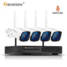 Einnov 5MP H.265 дома Беспроводной Wi-Fi камера видеонаблюдения Системы 1080 P 2MP видеонаблюдения комплект камеры видеонаблюдения Wi-Fi безопасности Камера Системы IR View