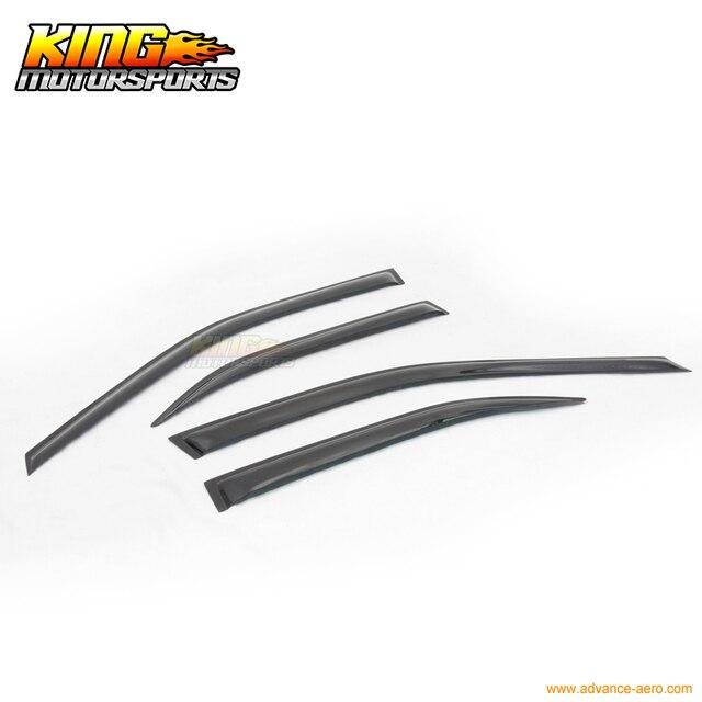 For 03-06 Mitsubishi Lancer OE Sun Window Visor Rain Guard Vent Smoke 4Pcs
