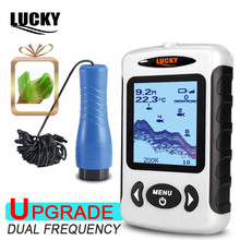 LUCKY FF718D-Ice  2.2inch  LCD Portable Fish Finder Outdoor 200KHz/83KHz Dual Sonar Frequency 100M Fish Detector for Ice Fishing