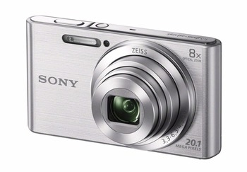 Sony DSC W830 Cyber shot silver side 2