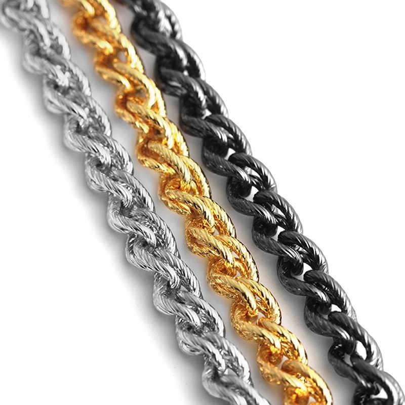 Or argent noir ton torsadé corde chaîne collier pour la fabrication de bijoux hommes femmes longue chaîne collier bijoux